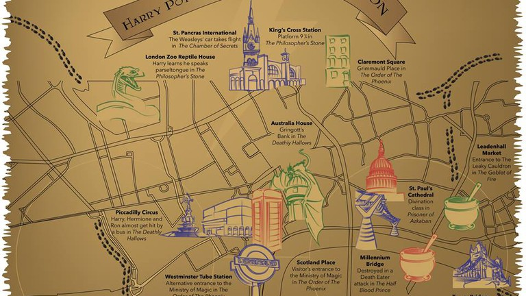Show Map Of London.This Magical Map Shows You All The Harry Potter Locations In London