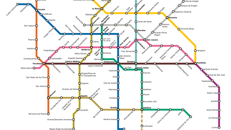 A User's Guide to the Mexico City Public Transport System on need a map of north america, need a map of california, need a map of europe,
