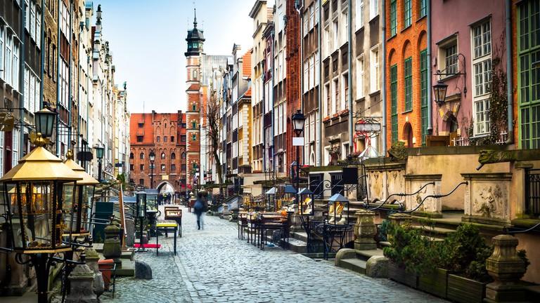 Mariacka Street in Gdansk   In Green/Shutterstock
