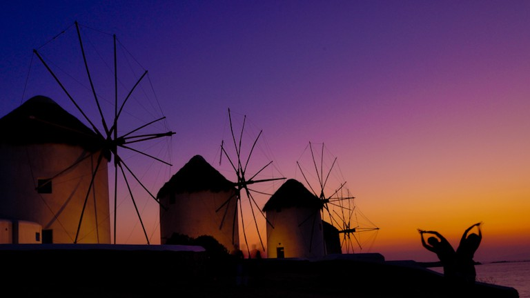 The windmills of Mykonos Island, Greece |  © Hassan Rafeek | Flickr