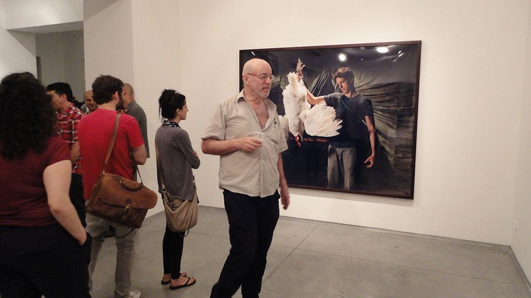 Adi Nes, The Village, show opening at Sommer Contemporary Art in Tel Aviv | Yair Talmor, Wikipedia
