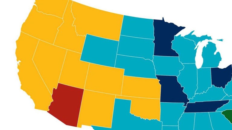 This Map Shows The Largest Religions In America - Map-of-minorities-in-us