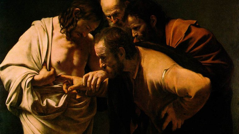 The Incredulity of St. Thomas by Caravaggio | Wikimedia Commons