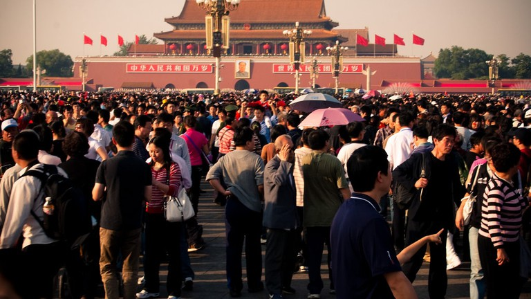 The crowd on the Tian'anmen Square in Beijing |© Alexander Savin / Flickr