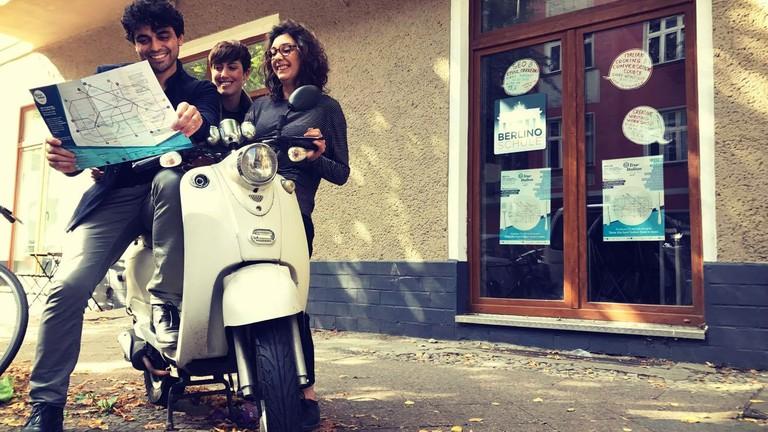 True Italians: (from left) Andrea D'Addio, Sara Trovatelli & Elisabetta Blarasin of Berlino Magazine | © Berlino