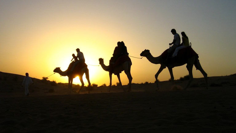 Riding a camel in the desert is a must   © Pete the painter