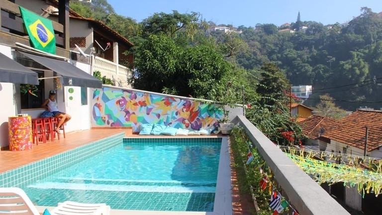 The pool at Santa Terê Hostel