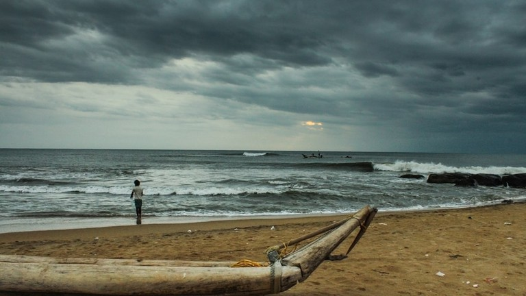 Chennai's Kovalam Beach on a cloudy day | ©Sharath Kuchi/Flickr