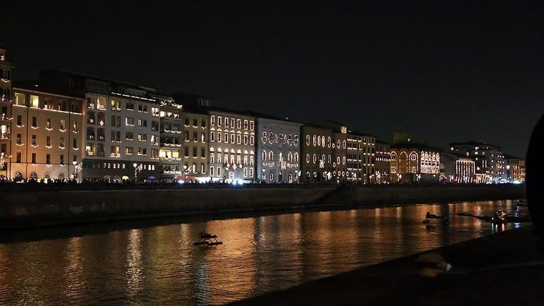 Lungarno of Pisa during the Luminara|©Sailko