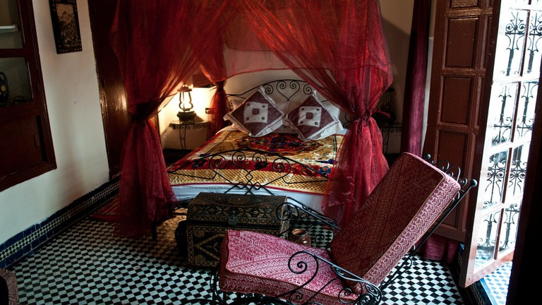 Beautiful room in a traditional Moroccan riad | © Anna & Michal / Flickr