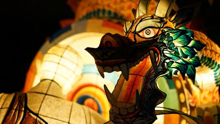 A dragon comes to life at the Seoul Lotus Lantern Festival