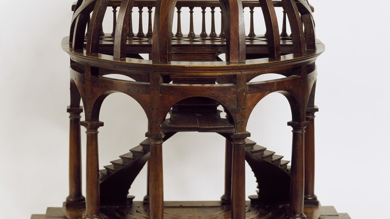 A dome-shaped mid 19th-century wooden staircase from France |© Courtesy of Smithsonian Institution