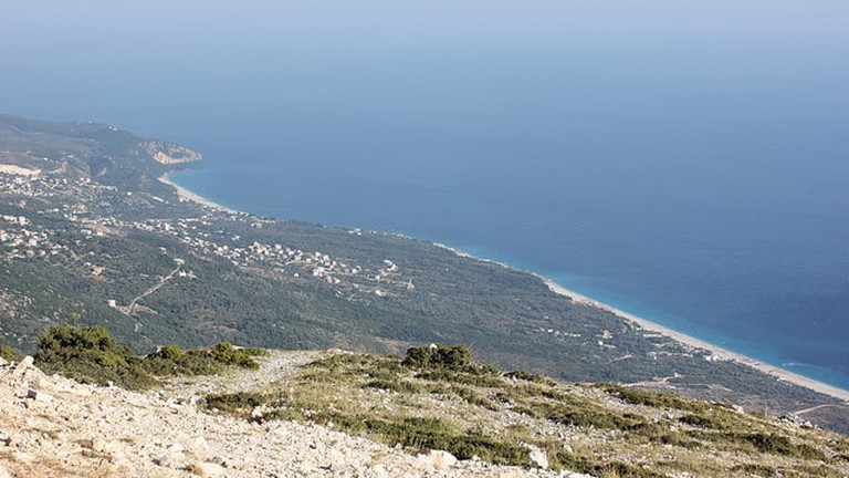 The breathtaking view of the Albanian Riviera from the Llogara Pass