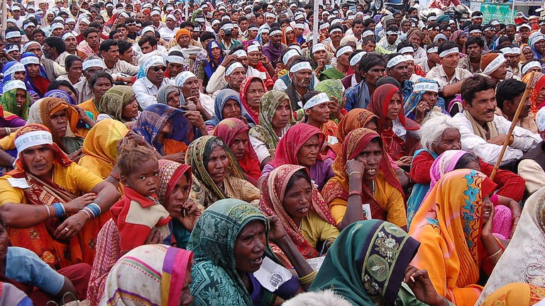 A farmer's rally in the Indian city of Bhopal