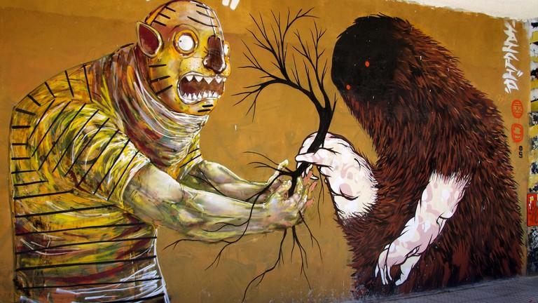 A piece of street art by Jaz in Villa Crespo