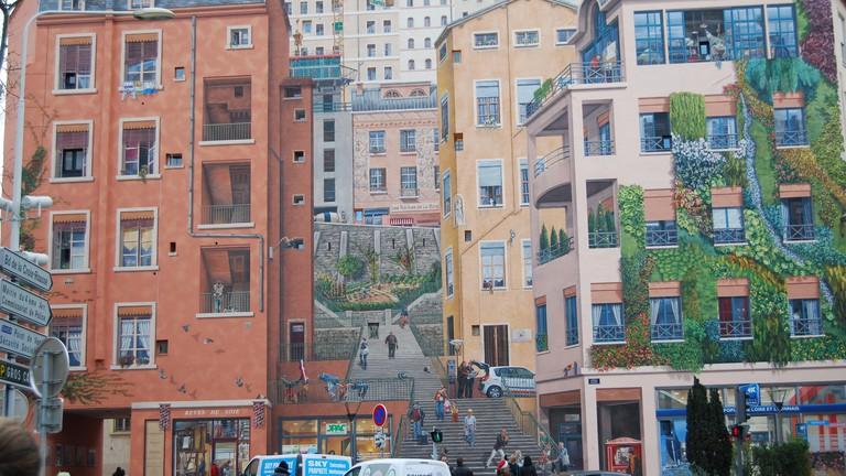 The ultimate trompe-l'œil, Mur des Canuts