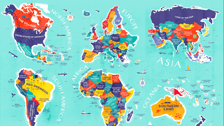 This Enlightening Map Shows the Literal Meaning of Every ...