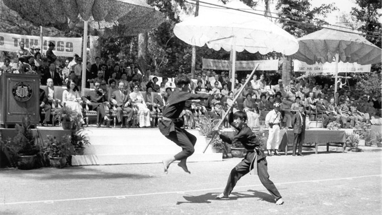 Two young students demonstrate Vovinam in 1969 ©Tommy Truong79/Flickr