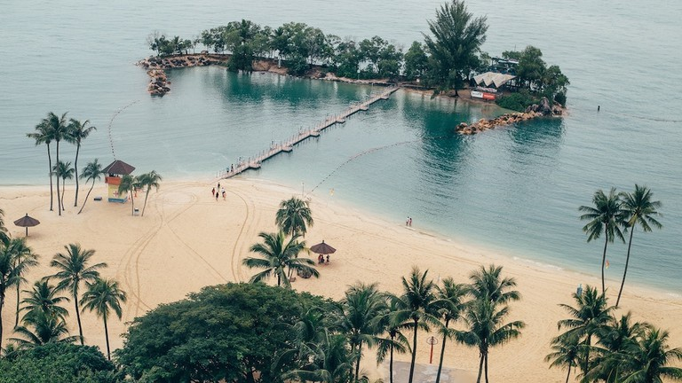 Sentosa on an aerial view