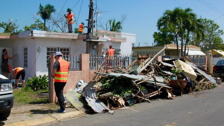 IRONMAN triathletes help with the relief effort in Puerto Rico | © Morgan Pappas