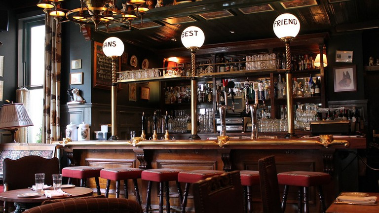 A British-style bar.