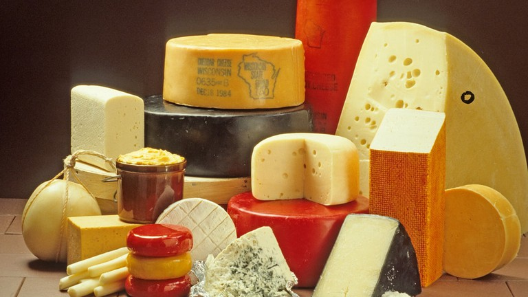 A variety of different cheeses
