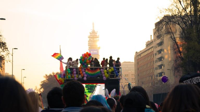 Pride parade in Santiago, Chile