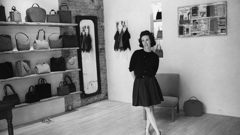 Designer Kate Spade inside her New York flagship store in 1996