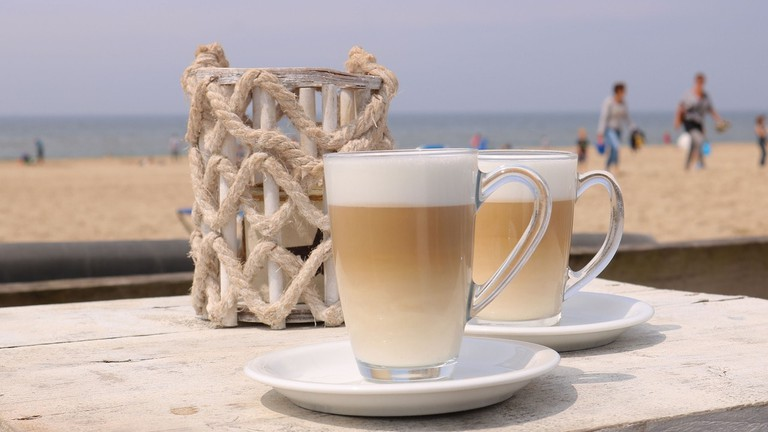 Coffee by the beach