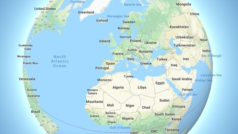 Full Map Of The World.The New Globe Mode On Google Maps Will Change The Way You Think