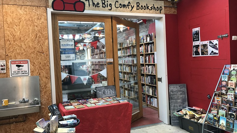 The entrance to the Big Comfy Bookshop
