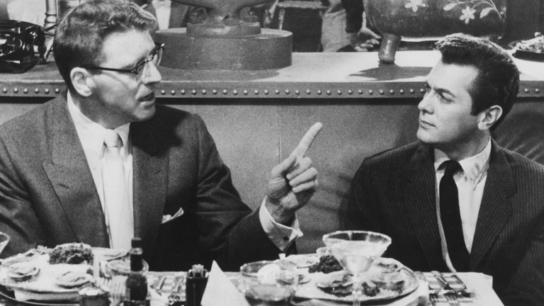 Burt Lancaster, left, and Tony Curtis in 'Sweet Smell of Success'