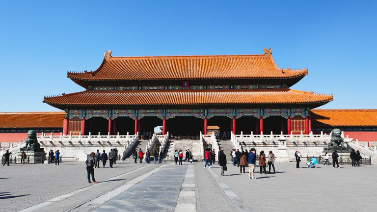 The Hall of Supreme Harmony is found inside the Forbidden City in Beijing