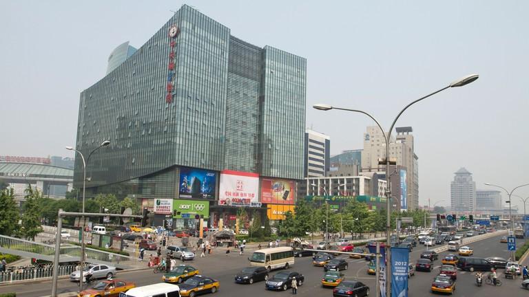 Zhongguancun e-Plaza stands tall in Beijing, China