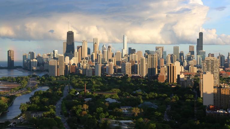 Skyscrapers dominate Chicago's skyline