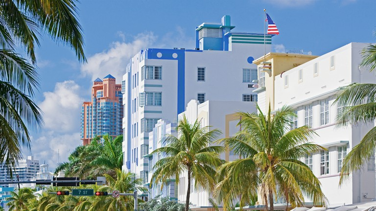 Ocean Drive, South Beach, Miami, USA