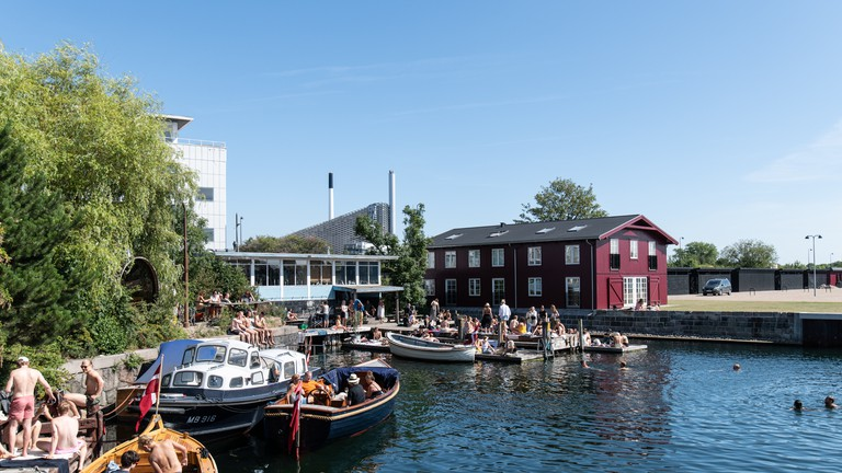 Swimming in the harbour is a popular summer activity in Copenhagen