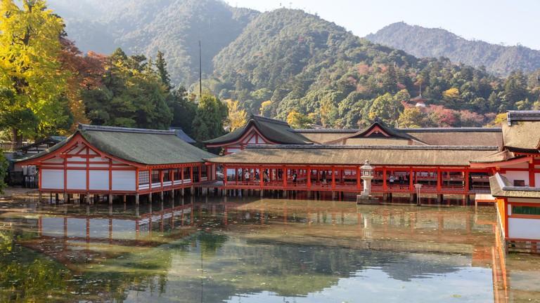 Itsukushima Shrine is a UNESCO World Heritage Site