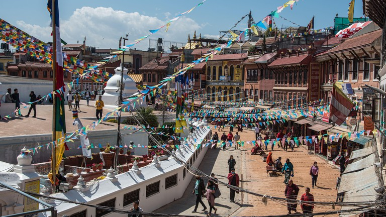 The Boudha Stupa in Kathmandu is one of the largest stupas in the world