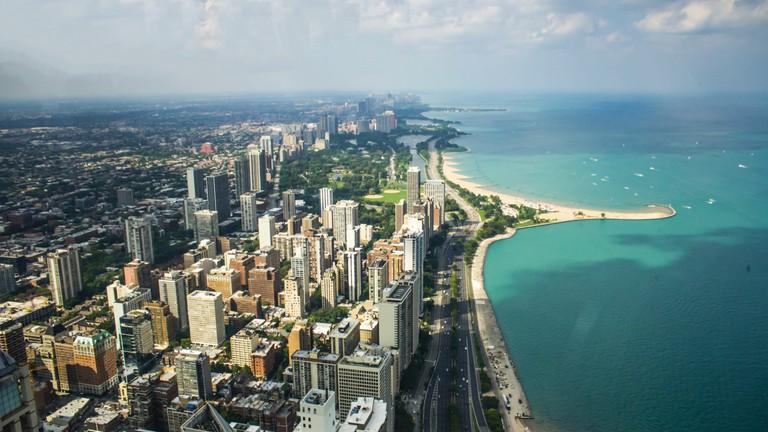 The Lake Michigan shoreline provides plenty of beaches to enjoy during the summer
