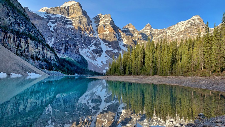 Moraine Lake in Alberta Canada
