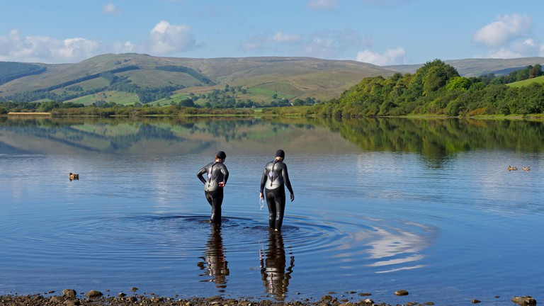 Semerwater, in the Yorkshire Dales, offers stunning wild swimming opportunities
