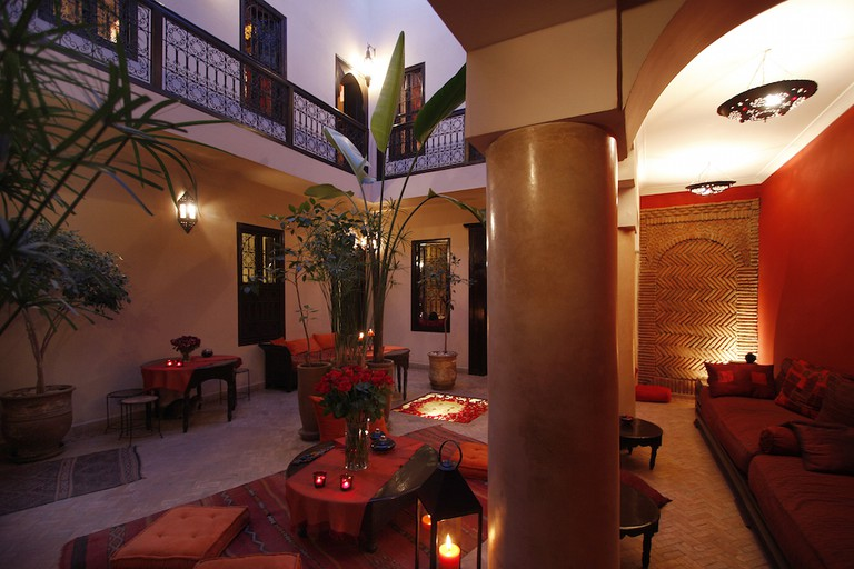 Just a few steps from Jemma El Fna square, Riad Boussa is a four-bed riad in the Debachi area of Marrakech