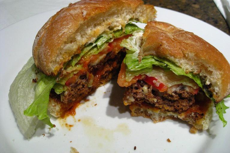 Home made Buffalo Burgers