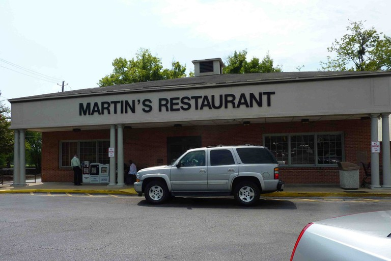 Outside Martin's Restaurant