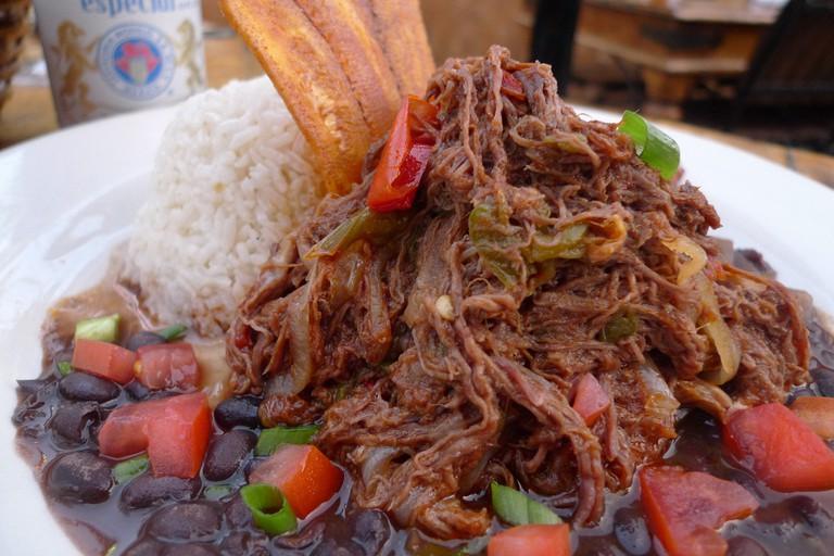 Plate of juicy ropa vieja