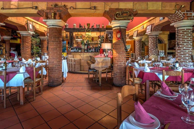 Caraffa Ristorante is decorated in authentic Italian style