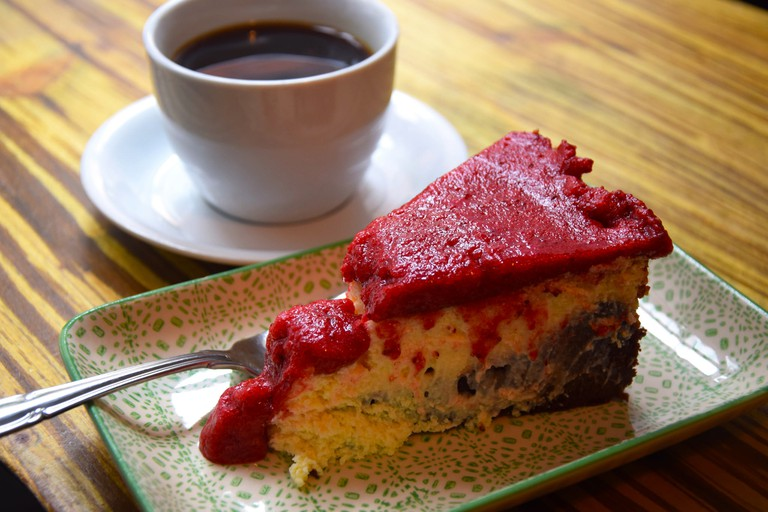 Cheesecake at Bertel's Salon