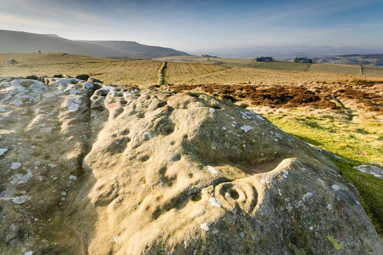 Prehistoric rock art / Ancient prehistoric cup and ring rock art is found on many stones at Lordenshaws in the Simonside Hills part of Northumberland National Park