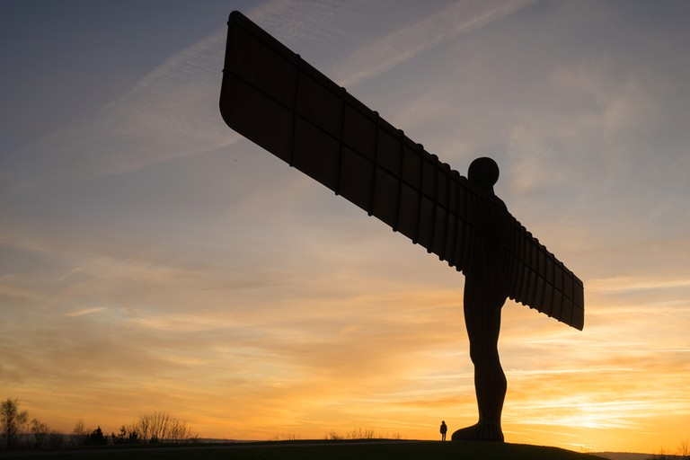 The Angel of the North, Gateshead. A steel sculpture by Antony Gormley